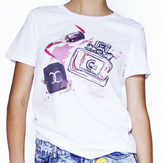 #chouettefashion T-shirt Powder Lipstick and Perfume by ChouetteFashionStore