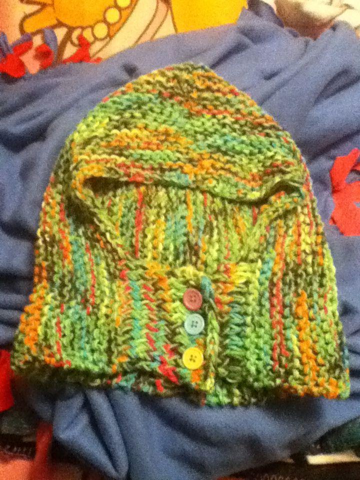 hood scarf - knit loom
