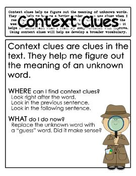 CONTEXT CLUES POSTERS - TeachersPayTeachers.com