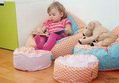 Schnittmuster Baby-Sitzsack