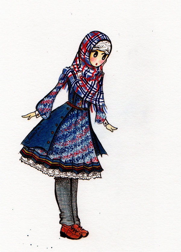 nice coat and #hijab !