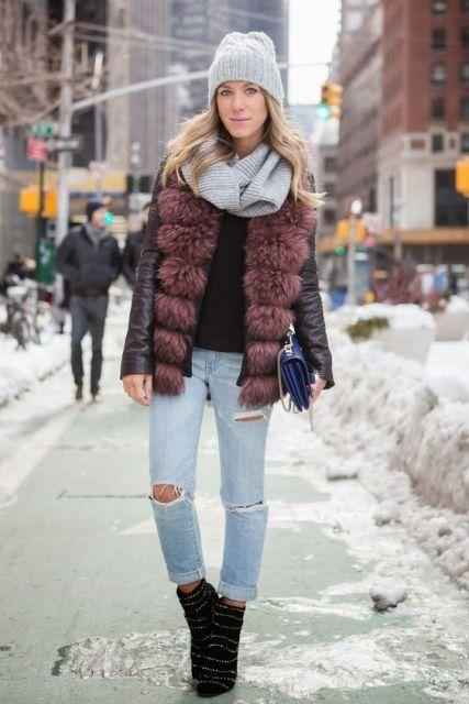 gola infinita | Colete de Pêlo de 2019 | Pinterest | Moda inverno, Look inverno e Colete de pelinho
