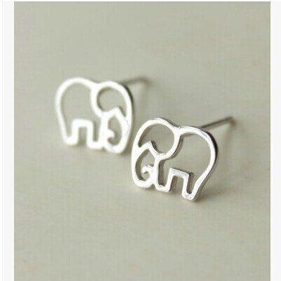 Elephant Earrings Silver Elephant Earrings Gold by Instyleglamour