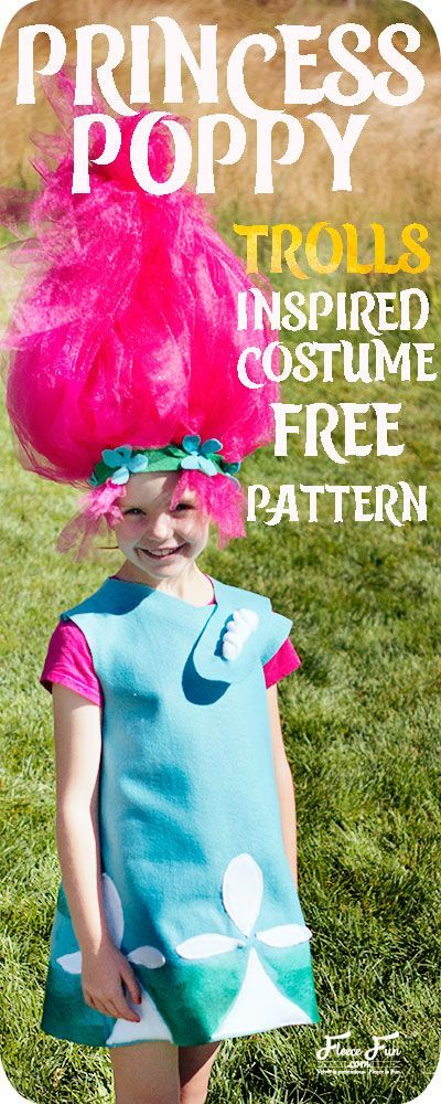 I love this Princess Poppy Costume DIY . Perfect for Halloween and an easy beginner friendly sewing project. I love how it comes in so many sizes!