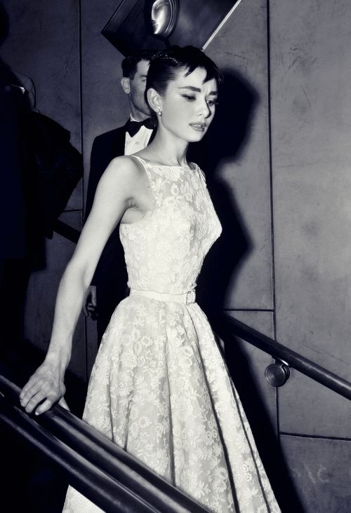 Audrey Hepburn at The Academy Awards, 1954.