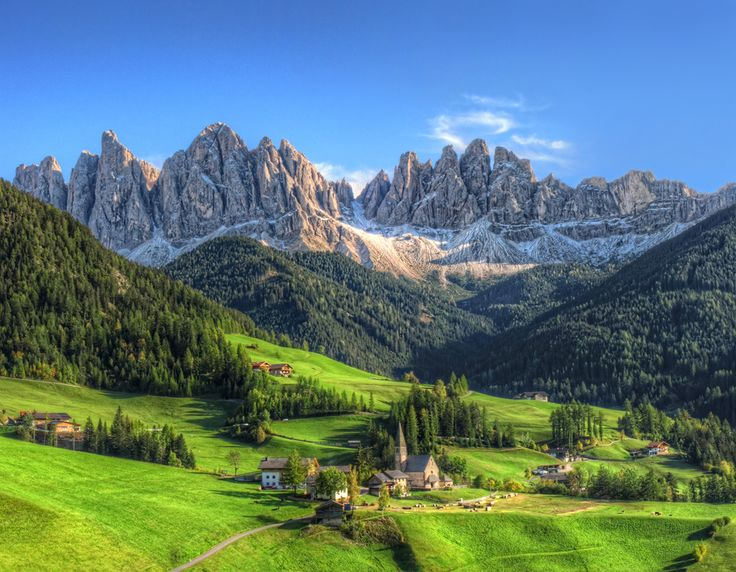 St. Magdalena; photograph by Frank Bramkamp. St. Magdalena, Val di Funes, South Tyrol, Italy.