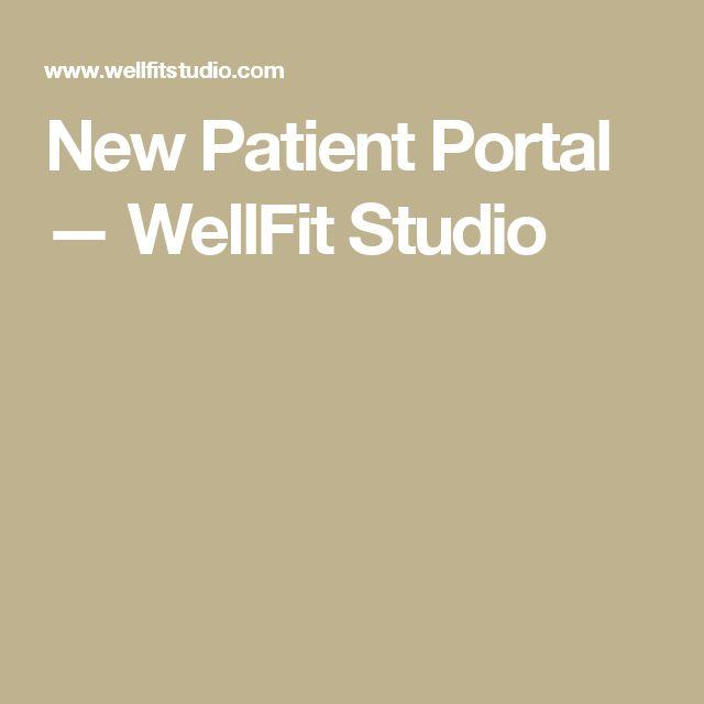 New Patient Portal — WellFit Studio