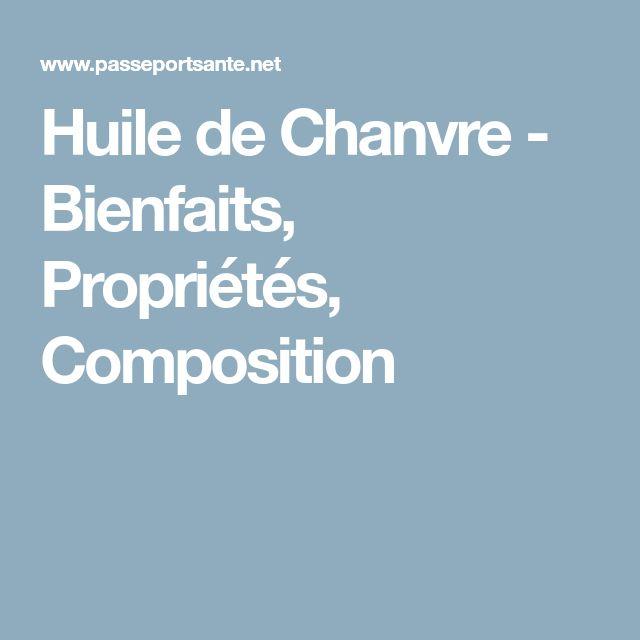 Huile de Chanvre - Bienfaits, Propriétés, Composition