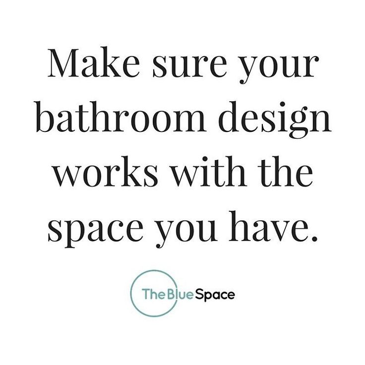 Designing the bathroom of your dreams? One of the best pieces of advice is to work with the space you currently have. Make sure your ideal blue space can become a reality with the foundation you currently have!