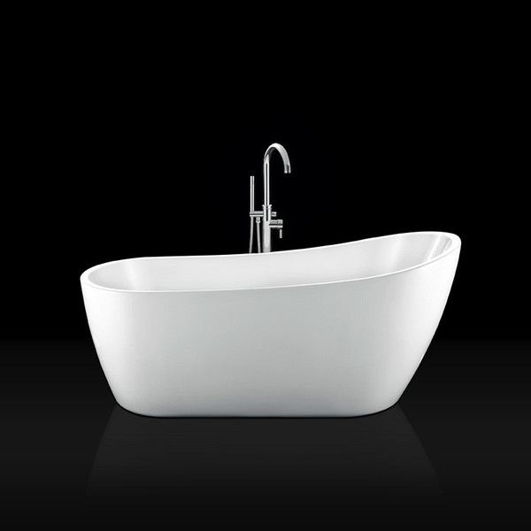 Bañera exenta acrílica SUTTON 180 cm, desagüe y sifón incluido - Entorno Baño  - 1