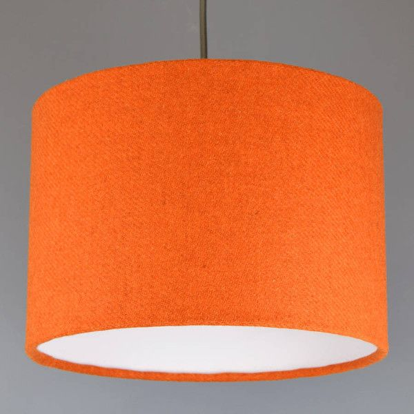 Best 25 orange lamp shade ideas on pinterest indian lamps quirk orange harris tweed lampshade 73 liked on polyvore featuring home lighting aloadofball Image collections