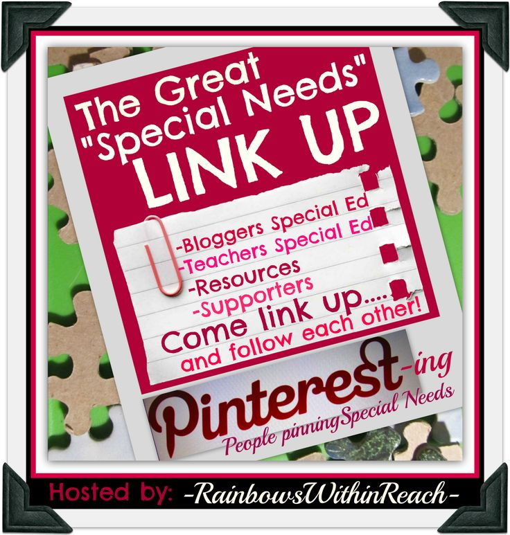 Pinterest Directory for those who pin from a Special Needs/Special Education perspective. Resources - This pinner says For the ten years before this recent  chapter of seventeen years I was the Resource Teacher at a private preschool for children with special needs. * pinned by www.thomasmarshalldoesitall.com