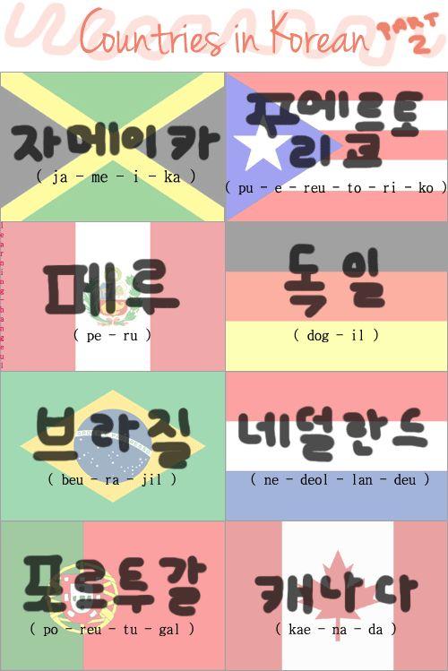 Countries in Korean - Part 2