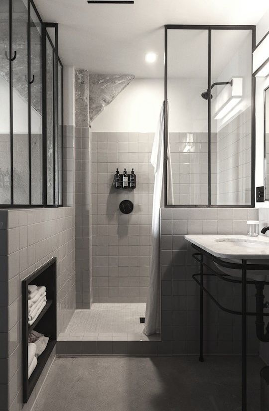 masculine/ industrial style shower. For the Home