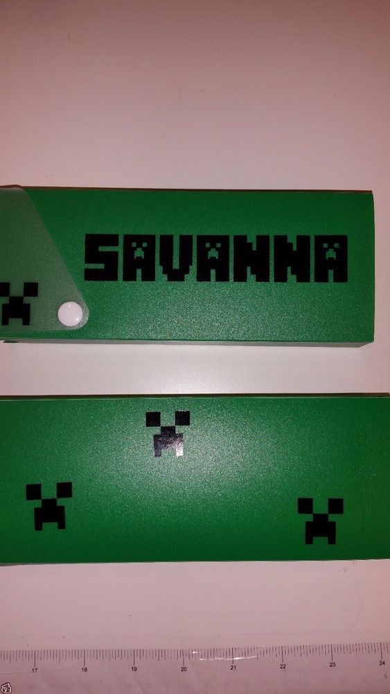 PERSONALIZED MINECRAFT PENCIL CASE! HARD GREEN CASE WITH YOUR NAME! #Wexford