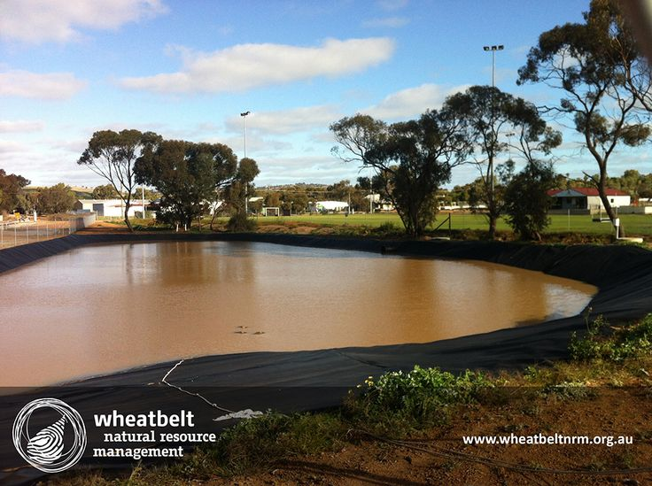 The York Dam keeping Wheatbelt ovals green via the Stormwater Project. Wheatbelt NRM in partnership with DAFWA and Royalties for Regions.