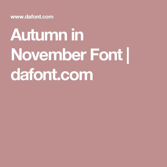 Autumn Fonts Dafont