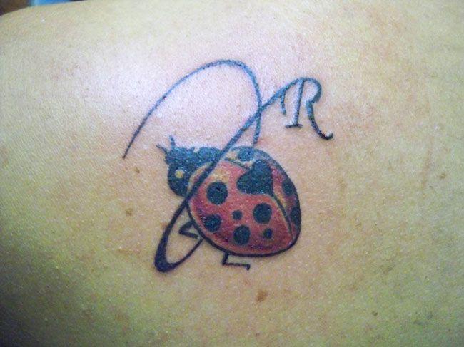 Coccinella Con Iniziale « Nany Tattoo