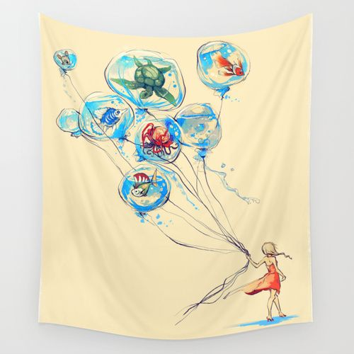 Water Balloons Wall Tapestry