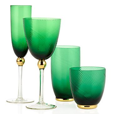 Emerald Glassware - Sets of 4 | entertaining6 | Entertaining | Inspiration | Z Gallerie