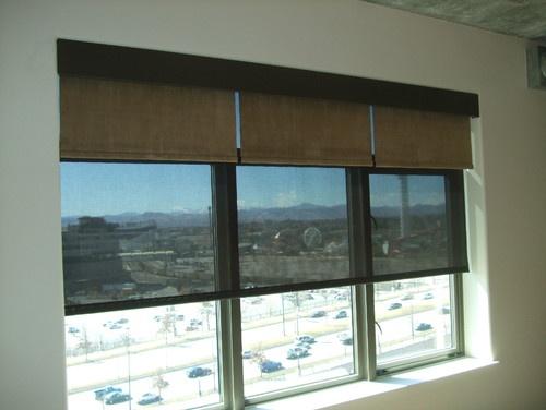 Black sunscreen blinds
