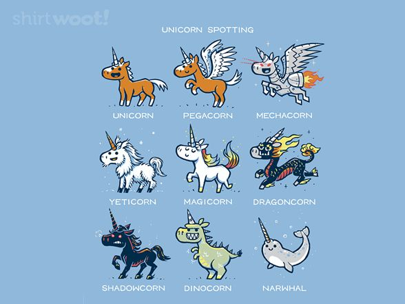 Unicorn Spotting Tee by Shirt.Woot.com