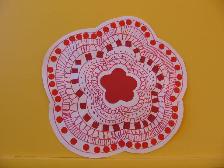 graphisme et collage Fleur Grande section C. FRISTOT