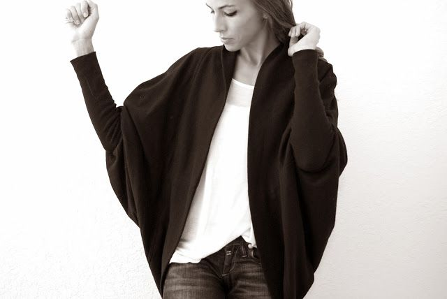 Trash To Couture: DIY Batwing Cardigan trash to couture is my favorite favorite!!