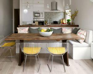 gambar desain ruang makan dan dapur yang menjadi satu