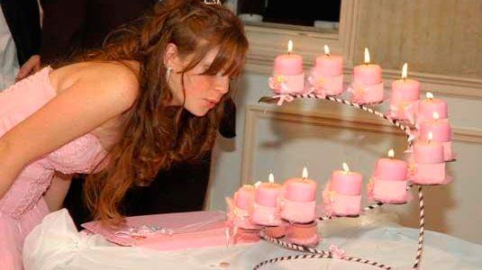 Ceremonia de las velas, para XV años.