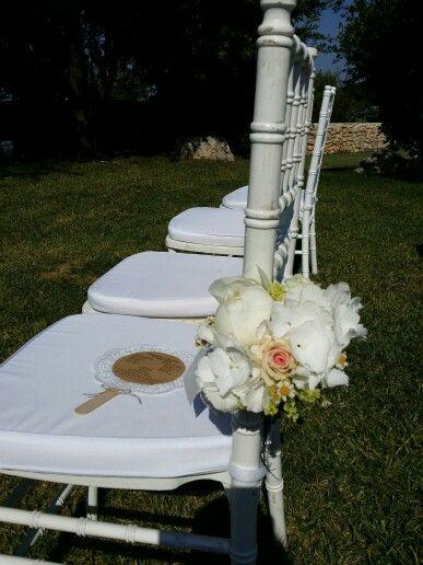 Flowers details....outdoor ceremony in Puglia! by Michela & Michela www.italianweddingcompany.com