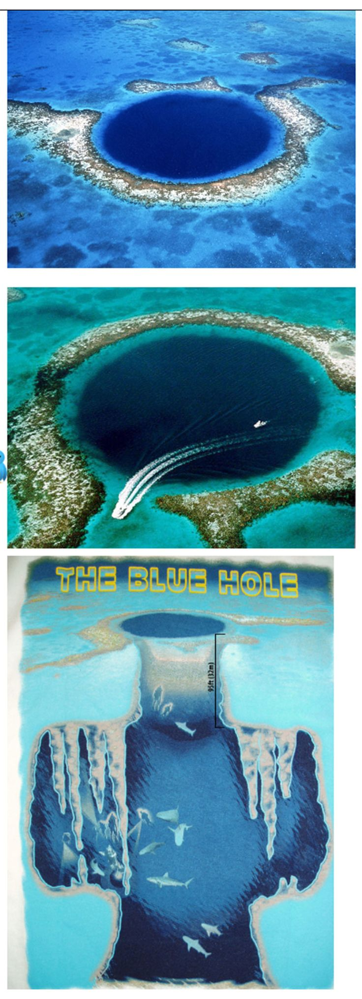 Great Blue Hole – An incredible blue hole showcasing how our ocean levels fluctuated over history.
