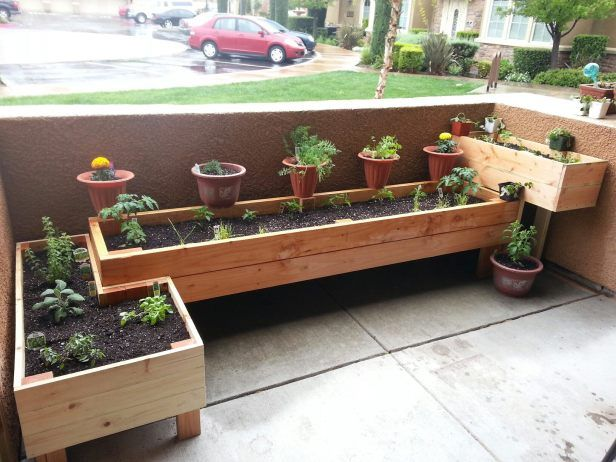 Here Is A Tetris Style Patio Planter Design That My Boyfriend Built For Me  Last Week. It Is A Great Way To Use The Small Space On My Patio To Grow  Healthy ...