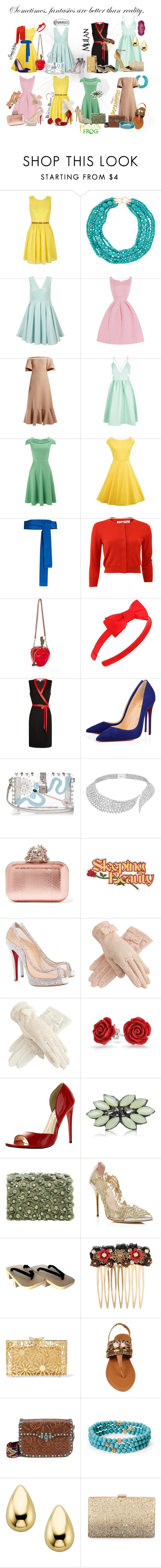 """Princesses out to brunch"" by lindsey-tudor ❤ liked on Polyvore featuring Yumi, Kenneth Jay Lane, Chi Chi, Valentino, Boohoo, Phase Eight, Diane Von Furstenberg, Oscar de la Renta, Betsey Johnson and L. Erickson"