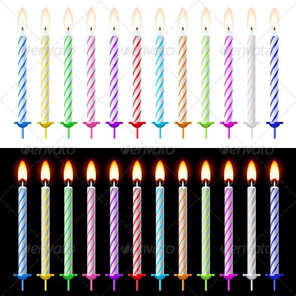 Candles Set  #GraphicRiver         Candles Set. Illustration on white and black background     Created: 16May12 GraphicsFilesIncluded: VectorEPS Layered: Yes MinimumAdobeCSVersion: CS Tags: age #anniversary #art #baby #background #birthday #bright #burning #cake #candle #candlelight #celebration #cheerful #child #clip #close #color #colored #decoration #dessert #event #family #flame #fun #gift #greeting #group #happiness #happy #holiday