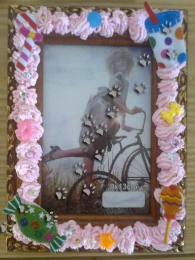 Cuadro decorado con dulces