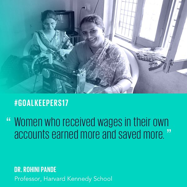 Digital has changed the nature of banking in India and financial inclusion programs are lifting women out of poverty. #Goalkeepers17