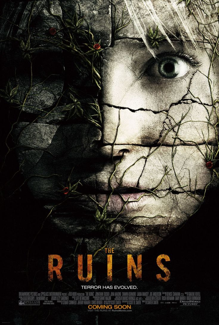 The Ruins , starring Shawn Ashmore, Jena Malone, Jonathan Tucker, Laura Ramsey. A group of friends whose leisurely Mexican holiday takes a turn for the worse when they, along with a fellow tourist embark on a remote archaeological dig in the jungle, where something evil lives among the ruins. #Horror #Thriller