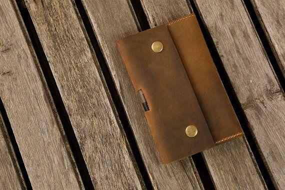 Carpeta de viaje diario cartera cuero Cuaderno de cuero de