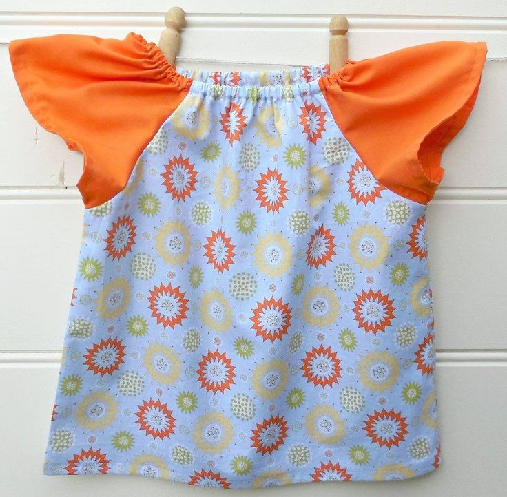Handmade by Sew Bliss. Girls peasant style dress