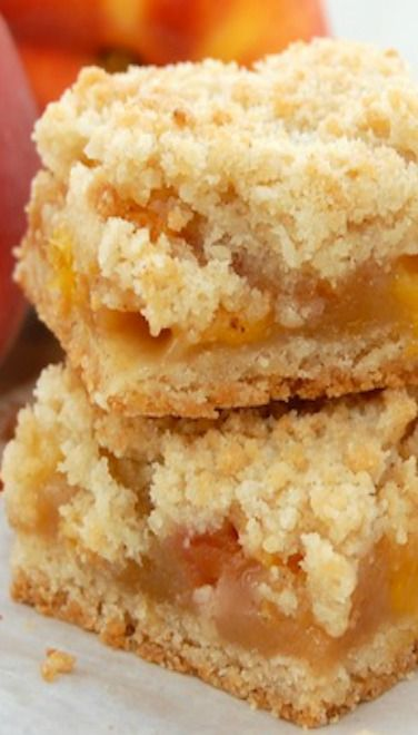 Peach Crumble Bars