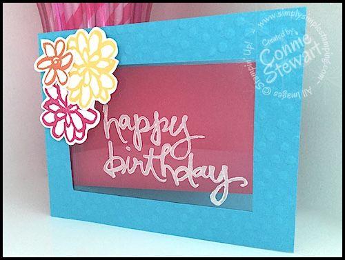 FLASH CARD - Watercolor Window Card - Video No. 67