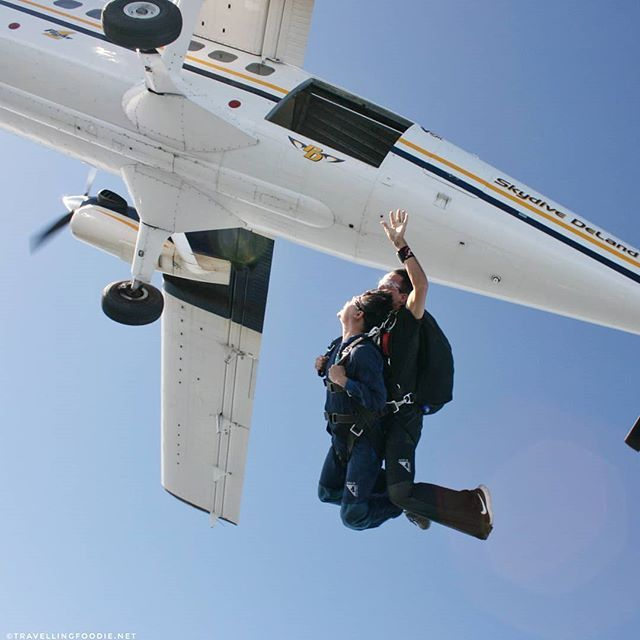 That Moment When You Jump Off The Plane Yolo I Had Such An Awesome Experience Skydiv Florida Travel Guide Skydiving In Florida De Leon Springs State Park