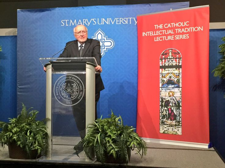 Richard Mouw, Ph.D. spoke about mutual understanding between Evangelicals and Catholics at the Catholic Intellectual Tradition Lecture Series.