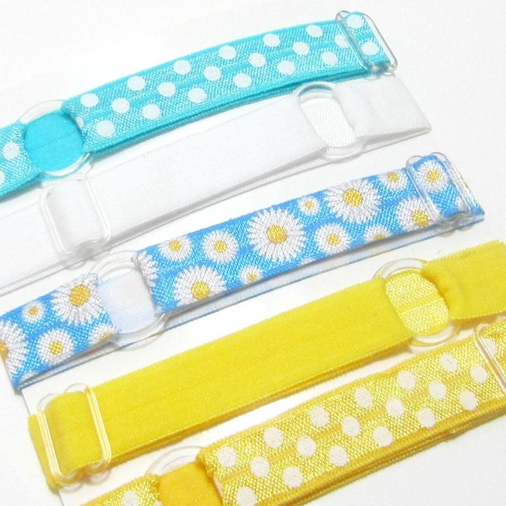 Adjustable Elastic Headband-Set of 5 Blue & Yellow