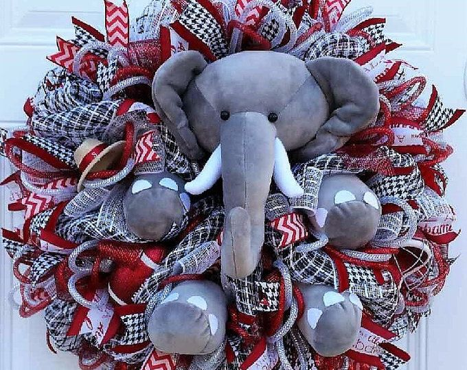 Big AL Football Wreath - Bama Football Wreath - Alabama Football Wreath - Roll Tide Wreath - Crimson Tide Wreath - Collegiate Wreath