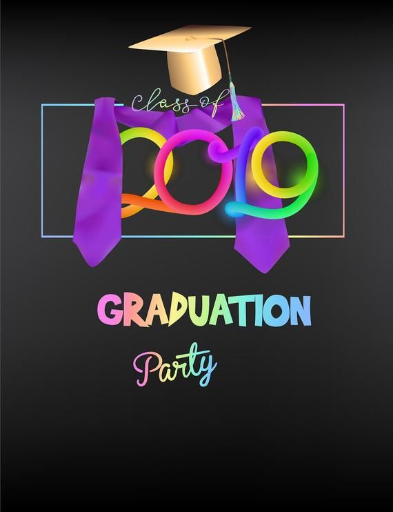 Colorful 2019 And Gold Graduation Photography Backdrops ...