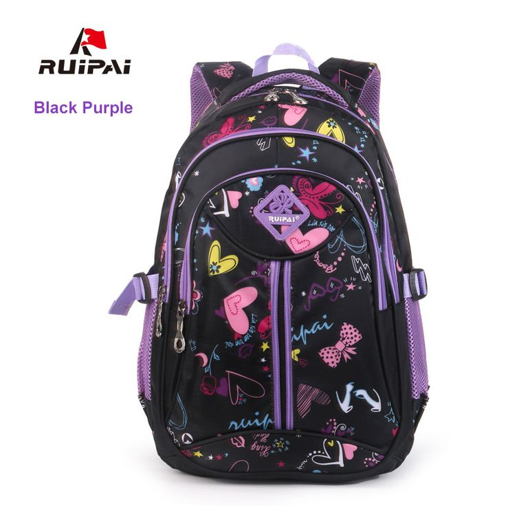 515ba259186 RUIPAI School Bags For Teenagers Drawstring Backpack Rugzak Kids Polyester  Schoolbags Classic Bags For Primary School