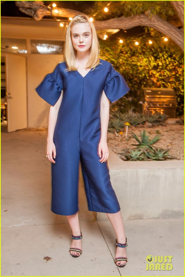 Elle Fanning Joins Shaun Ross at ASOS' Holiday Preview Dinner: Photo #3772479. Elle Fanning rules the style game in a chic blue romper at the ASOS Dinner held at Simon House on Tuesday night (September 27) in Beverly Hills, Calif.    The 19-year-old…