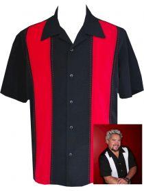 Mens Retro Shirt ~ Black Red